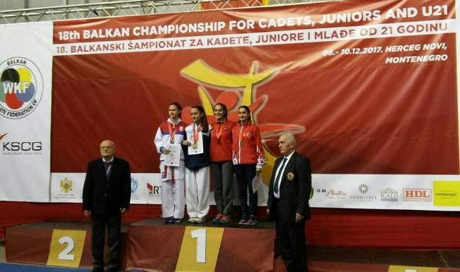 Emina Abdulić i Belma Omerović prvakinje Balkana u karateu